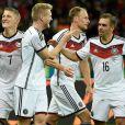 Photo du match Allemagne-Algérie (2-0 après prolongations) à Porto Alegre (Brésil) le 30 juin 2014.