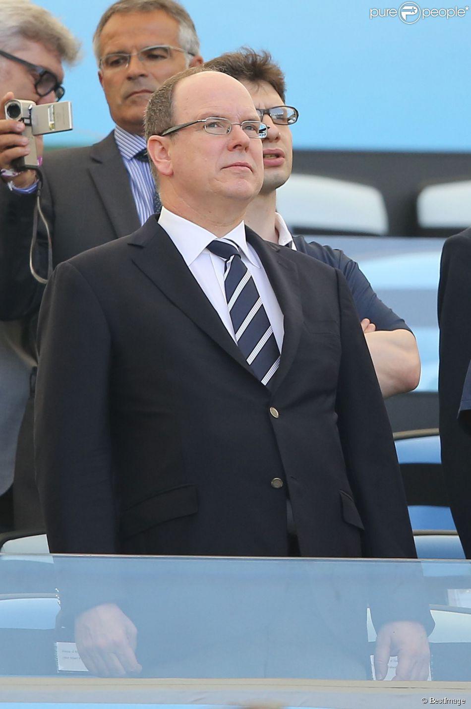 Príncipe Albert de Mônaco participou da partida da França contra o & # 039; a Alemanha, no Rio de Janeiro, Brasil, 04 de julho de 2014.