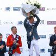 Le cavalier français Kevin Staut a remporté une belle victoire lors du Prix Longines Global Champions Tour à Paris le 5 juillet 2014