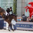 Jessica Springsteen - Paris Eiffel Jumping, présenté par Gucci, au Champ de Mars à Paris le 5juillet 2014.