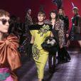 """Défilé de mode, collection Haute-Couture automne-hiver 2014/2015 """"Schiaparelli"""" à l'hôtel d'Evreux à Paris. Le 7 juillet 2014"""