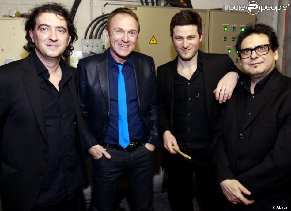 Christophe Hondelatte et ses trois musiciens à Bordeaux le 17 mars 2011.