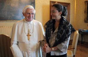 PHOTOS : Ingrid Betancourt a rencontré le pape...