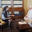 Ingrid Betancourt rencontre le pape Benoît XVI