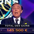 Jean-Pierre Foucault présente Qui veut gagner des millions ? sur TF1, le samedi 19 juillet 2014.