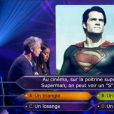 Franck Dubosc et Amel Bent échouent sur la question à 24 000 euros dans Qui veut gagner des millions ? sur TF1, le samedi 19 juillet 2014.