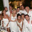Les invités lors de la 19e Soirée Blanche, le 14 juillet 2014 aux Moulins de Ramatuelle.