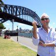 Paul Hogan le long de Sydney Harbour à Sydney, le 18 décembre 2013