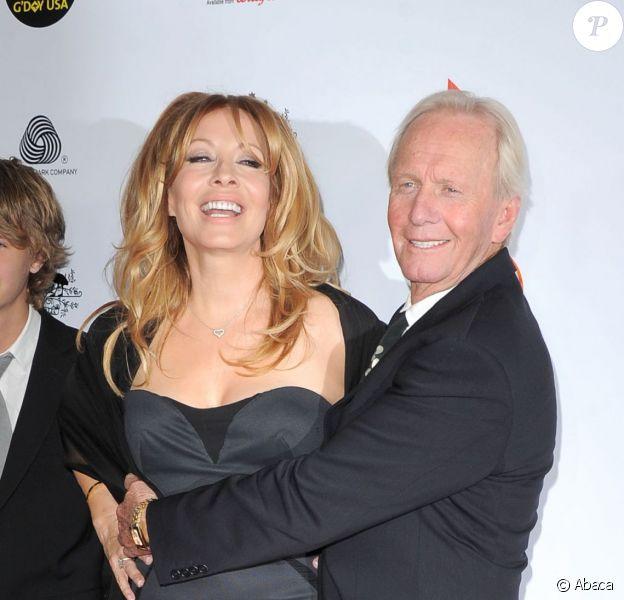 Paul Hogan, son épouse Linda et leur fils Chance lors du 'G'Day USA Black Tie Gala' au JW Marriot au LA Live de Los Angeles, le 12 janvier 2013