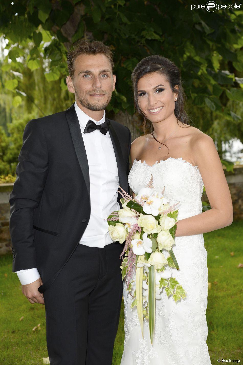 """Exclusif - Mariage de Audrey et Alexandre de """"Qui veut épouser mon fils saison 2"""" au Manoir des Cygnes à Le Coudray-Montceaux, le 6 juillet 2014."""