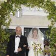 """Exclusif - Mariage de Audrey et Alexandre de l'émission """"Qui veut épouser mon fils saison 2"""" au Manoir des Cygnes à Le Coudray-Montceaux, le 6 juillet 2014."""