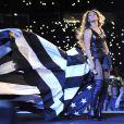 Beyonce et son époux Jay-Z, complices sur scène lors de leur On The Run Tour. Le 11 juillet 2014