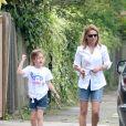 Exclusif - Geri Halliwell et sa fille Bluebell Madonna à Londres. Le 29 juillet 2014.