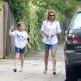 Exclusif - Geri Halliwell dans les rues de Londres en compagnie de sa fille Bluebell Madonna. Le 29 juillet 2014.