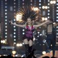 Kylie Minogue lors de la cérémonie de clôture des Jeux du Commonwealth à Glasgow en Ecosse, le 3 août 2014.