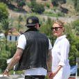 Fin des vacances en Méditerranée pour Cameron Diaz et son boyfriend Benji Madden, le 26 juillet 2014.