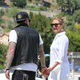 Fin des vacances en Méditerranée pour Cameron Diaz et Benji Madden. Le couple quitte leur magnifique yacht à Saint-Jean-Cap-Ferrat dans le sud de la France, le 26 juillet 2014.
