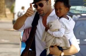 PHOTOS : Quand Brad Pitt s'envole avec Zahara à l'autre bout du monde...