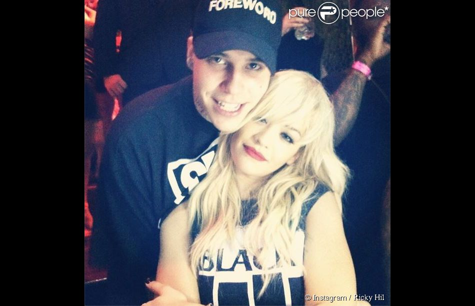 Rita Ora et son nouveau petit ami Ricky Hil. Juillet 2014.