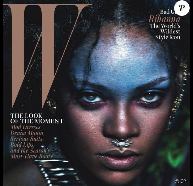 Rihanna, photographiée par Mert et Marcus pour le magazine W. Septembre 2014.