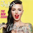 Christy Mack fait la couverture de Inked, septembre 2014. La star montante du X a été gravement battue en août 2014 par son boyfriend War Machine (Jonathan Koppenhaver). Habitué des condamnations pour violences, il est en cavale et recherché par la police.