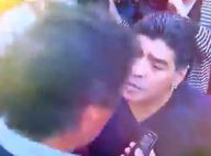 Diego Maradona : Il gifle un journaliste devant son fils