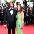 Frédéric Beigbeder et sa femme Lara Micheli   lors de la montée des marches du film Saint Laurent et l'hommage au cinéma d'animation, durant le Festival de Cannes le 17 mai 2014