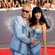 Riff Raff et Katy Perry sur le tapis rouge MTV Video Music Awards 2014 au Forum. Inglewood, Los Angeles, le 24 août 2014.