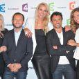 Julie Leclerc, Jérémy Michalak, Elodie Gossuin, Willy Rovelli et Francesca Antoniotti - Conférence de presse de rentrée de France Télévisions au Palais de Tokyo à Paris, le 26 août 2014.