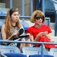 Anna Wintour lors de la victoire de Maria Sharapova sur Maria Kirlenko au premier tour de l'US Open à l'USTA Billie Jean King National Tennis Center de New York le 26 août 2014