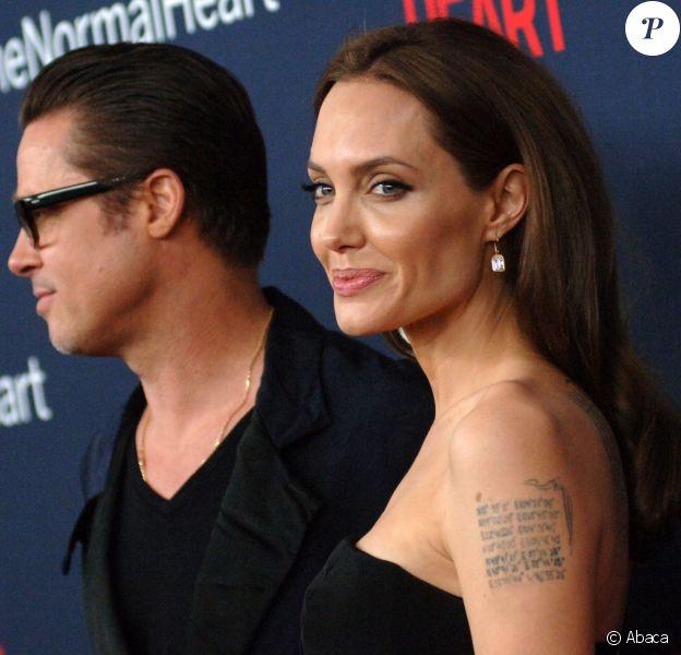 Angelina Jolie et Brad Pitt à New York le 12 mai 2014.