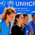 L'ambassadrice de l'UNHCR Angelina Jolie au camp Al Zaatri, près de la Syrie, le 11 septembre 2012.