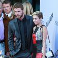 Miley Cyrus et Liam Hemsworth à Los Angeles, le 8 août 2013.