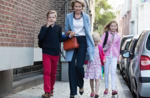 Mathilde et Philippe de Belgique : Rentrée des classes dissociée mais souriante