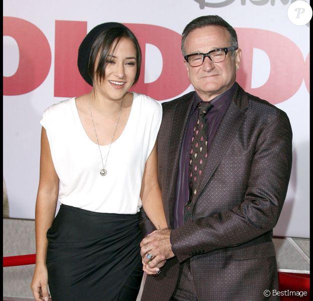 Zelda Williams et son père Robin lors de la présentation du film Old Dogs à Hollywood le 9 novembre 2009