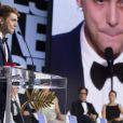 """Xavier Dolan (Prix du jury pour """"Mommy"""") à Cannes le 24 mai 2014."""
