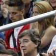Arnaud Montebourg lors du match amical entre la France et l'Espagne (1-0) le 4 septembre 2014 au Stade de France à Saint-Denis