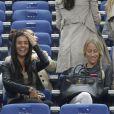 Ludivine Sagna, Sandra Evra, Fiona Cabaye lors du match amical entre la France et l'Espagne (1-0) le 4 septembre 2014 au Stade de France à Saint-Denis