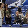 Fanny, la compagne de Loïc Rémy, Ludivine Sagna, Sandra Evra, Fiona Cabaye, Elodie Mavuba lors du match amical entre la France et l'Espagne (1-0) le 4 septembre 2014 au Stade de France à Saint-Denis
