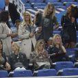 Ludivine Sagna, Sandra Evra, Fiona Cabaye, Elodie Mavuba lors du match amical entre la France et l'Espagne (1-0) le 4 septembre 2014 au Stade de France à Saint-Denis