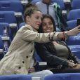 Fanny, la compagne de Loïc Rémy et Ludivine Sagna lors du match amical entre la France et l'Espagne (1-0) le 4 septembre 2014 au Stade de France à Saint-Denis