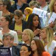 Ludivine Sagna, Sandra Evra, Fiona Cabaye, Elodie Mavub alors du match amical entre la France et l'Espagne (1-0) le 4 septembre 2014 au Stade de France à Saint-Denis