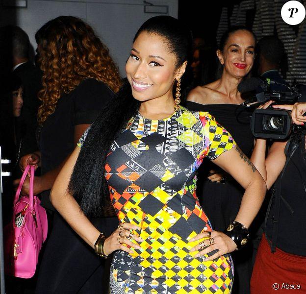 Nicki Minaj arrive au Metropolitan West pour assister à la présentation de la collection Anthony Vaccarello x Versus. New York, le 7 septembre 2014.