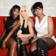 Naomi Campbell, Donatella Versace et Jennifer Hudson lors de la présentation de la collection Anthony Vaccarello x Versus à New York. Le 7 septembre 2014.