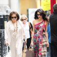 Exclusive - Amal Alamuddin et sa mère Baria à Londres le 3 septembre 2014