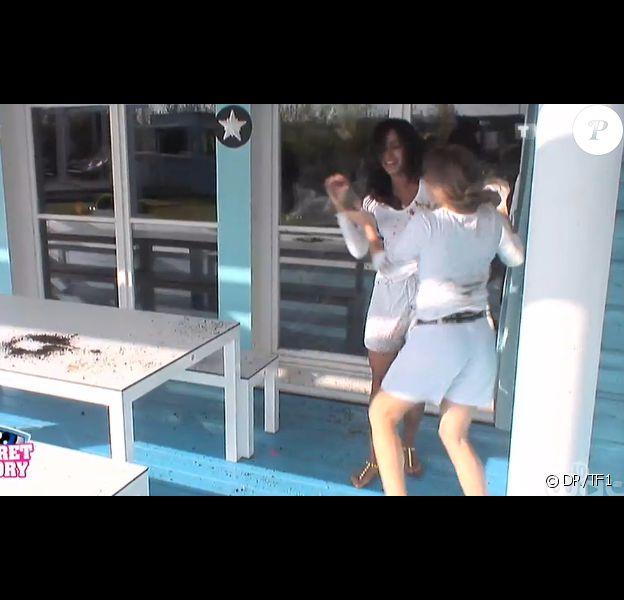 Leïla et Sara se disputent dans la quotidienne de Secret Story 8, sur TF1, le vendredi 12 septembre 2014