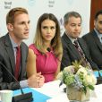 Jessica Alba et ses partenaires co-fondateurs de The Honest Company inaugurent l'Honest Company Ultra Clean Room au Leon and Norma Hess Center for Science and Medecine Davis Auditorium. New York, le 10 septembre 2014.