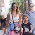 Please hide the child's face prior to the publication. Actress Jessica Alba goes for a stroll in TriBeCa with her daughter Honor in New York City, NY, USA on September 12, 2014. Photo by Humberto Carreno/Startraks/ABACAPRESS.COM13/09/2014 - New York City