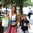 Jessica Alba et sa fille Honor se promènent à New York. Le 12 septembre 2014.