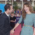 """Nicolas Bedos et la belle Doria Tillier - Avant-première du film """"Sin City"""" lors du 40ème festival du cinéma américain de Deauville, le 13 septembre 2014."""